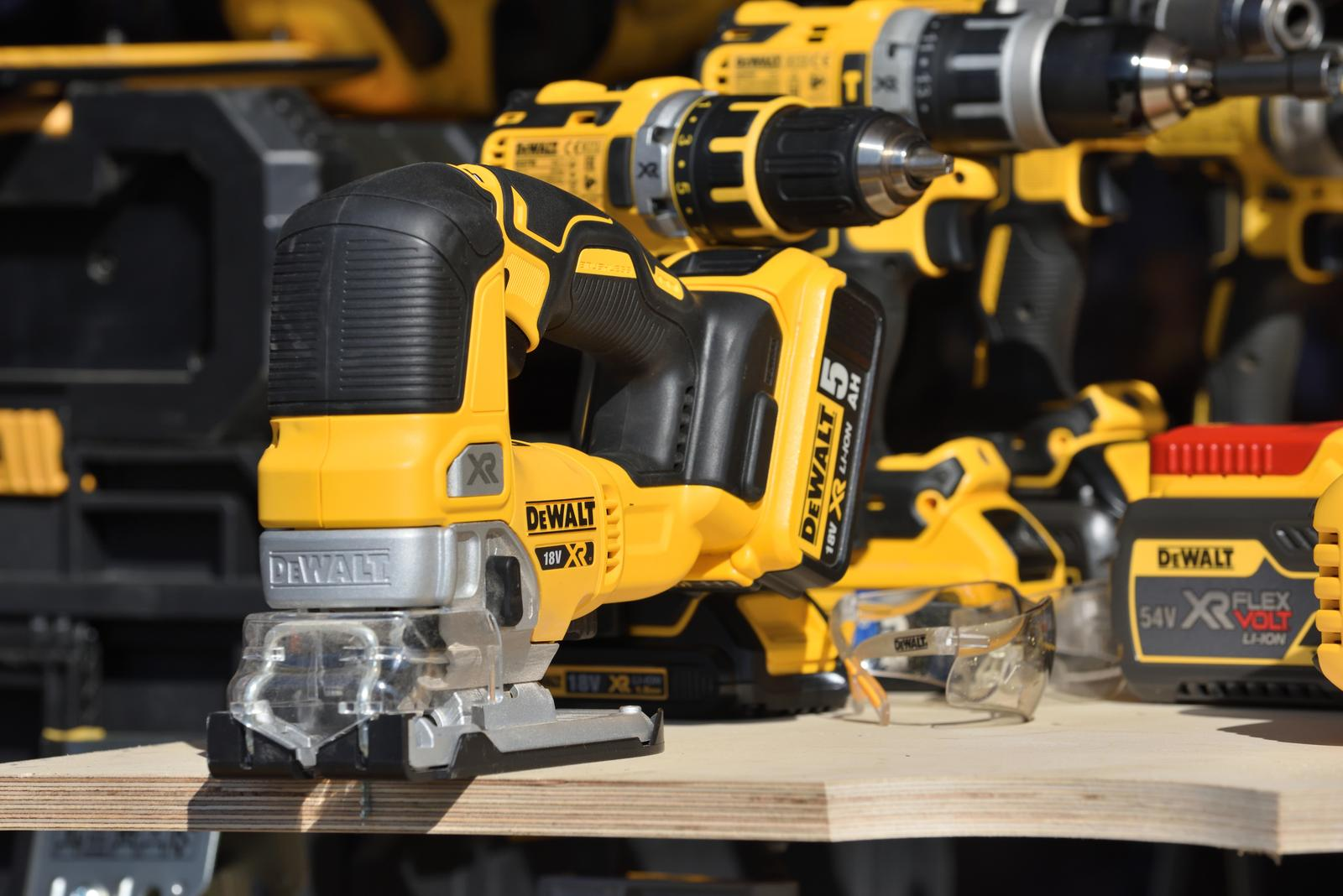 Kaunas, Lithuania - April 04: DeWalt power tools in Kaunas on April 04, 2019. DeWalt is an American worldwide brand of power tools and hand tools for the construction